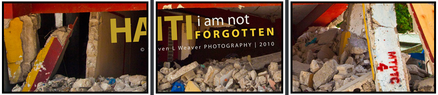Haiti I Am Not Forgotten - Colorful Building Collapse